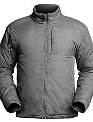 cheap -Men's Windbreaker Hunting Jacket Outdoor Thermal Warm Windproof Breathable Winter Autumn Jacket Polyester Camping / Hiking Hunting Grey Black