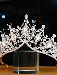 cheap -Luxury Princess Alloy Crown Tiaras with Pearl / Crystals / Rhinestones 1 PC Wedding / Special Occasion Headpiece