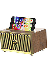 cheap -OneDer V6 V5.0 Vintage Retro Speaker Wooden Wireless Speaker With Phone holde