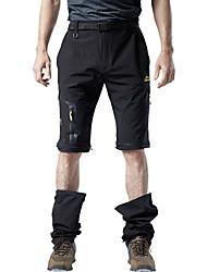 cheap -Men's Hiking Pants Trousers Hiking Shorts Convertible Pants / Zip Off Pants Summer Outdoor Waterproof Ripstop Breathable Comfortable Nylon Elastane Shorts Pants / Trousers Bottoms Grey Khaki Green