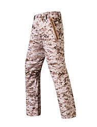 cheap -Men's Hunting Pants Softshell Pants Waterproof Ventilation Wearproof Fall Winter Solid Colored Camo / Camouflage for ACU CP Desert color S M L XL XXL