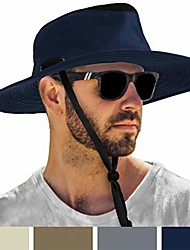 cheap -Sun Hat for Men Outdoor Sun Protection Wide Brim Boonie Hat for Hiking