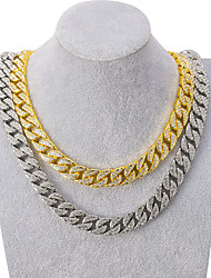 cheap -Men's Necklace Cuban Link Friends Trendy Alloy Silver Gold 50 cm Necklace Jewelry 1pc For Street