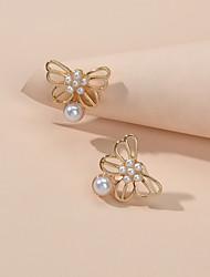 cheap -Women's Stud Earrings Geometrical Cute Imitation Pearl Earrings Jewelry Gold For Date Beach