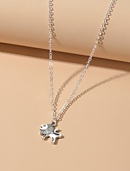 cheap -Women's Pendant Necklace Lion Fashion Alloy Silver 38 cm Necklace Jewelry For Birthday Party Festival