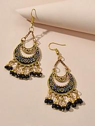 cheap -Women's Drop Earrings Drop Holiday Boho Earrings Jewelry White / Black / Red For Vacation Beach