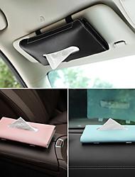 cheap -1 Pcs Car Tissue Box Towel Sets Car Sun Visor Tissue Box Holder Auto Interior Storage Decoration for BMW Car Accessories