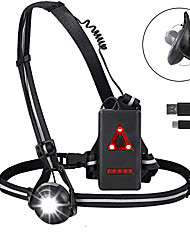 cheap -running light reflective gear, bright waterproof led safety light with red taillights, usb rechargeable 500 lumens, elastic adjustable strap with high visibility for night runners jogging dog walking