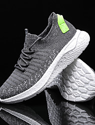 cheap -Men's Trainers Athletic Shoes Sporty Casual Athletic Running Shoes Basketball Shoes Tissage Volant Breathable Non-slipping Wear Proof Black Blue Gray Fall
