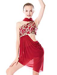 cheap -Ballet Hair Jewelry Split Joint Paillette Women's Training Performance Sleeveless Chinlon Lycra