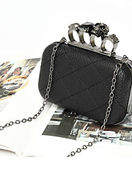 cheap -Women's Girls' Bags Alloy Evening Bag Crystals Chain Geometric Party / Evening Date Evening Bag Black