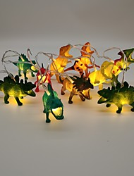 cheap -1.5m AA Batteries Powered Dinosaur String Lights for Kids Bedroom 10 LEDs 1pc Warm White Christmas New Year's Party Decorative Holiday