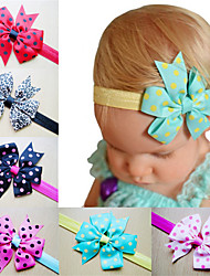 cheap -1pcs Toddler / Infant Girls' Active / Sweet Polka Dot Bow Nylon Hair Accessories White / Black / Blue One-Size