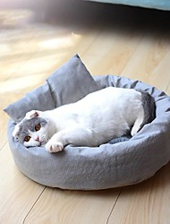 cheap -Dog Cat Dog Beds Cat Beds Dog Bed Mat Classic Warm Multi layer Soft Elastic For Indoor Use Plush Fabric for Large Medium Small Dogs and Cats