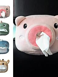 cheap -Tissue Box Car Plush Pig Shark Dinosaur Giraffe Design Tissue Box Lovely Funny Tissue Box Car Accessories Autos Accesorios