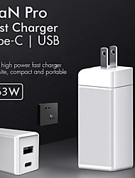 cheap -Portable 63W Charger Quick Charge USB Charger Wall Mobile Phone Charger for Samsung iPhone Xiaomi Huawei Oneplus Fast Charging Adapter Mobile Phone Accessories