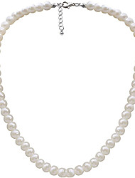 cheap -Women's Pearl Beaded Necklace Pearl Necklace Ladies Pearl Imitation Pearl Ivory Necklace Jewelry For Wedding Party Daily Casual