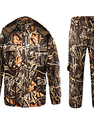 cheap -Men's Unisex Hiking Softshell Jacket Hoodie Ski Suit Outdoor Thermal Warm Windproof Quick Dry Breathable Autumn / Fall Winter Camo / Camouflage Coat Top Clothing Suit Polyester Taffeta Polyester