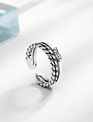 cheap -Adjustable Ring Retro Silver S925 Sterling Silver Totem Series Elegant Fashion Trendy 1pc Adjustable / Women's