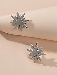 cheap -Women's Stud Earrings Geometrical Earrings Jewelry Silver For Street Festival