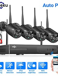 cheap -Hiseeu Wireless NVR 4CH CCTV System 1080P Indoor Outdoor Security Camera System With 4P 960P WiFi Cameras IP66 Waterproof With Audio Mobile&PC Remote Night Vision Survilliance 1TB 3TB Hard Drive