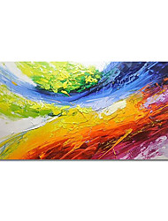 cheap -Oil Painting Hand Painted Horizontal Abstract Animals Modern Stretched Canvas