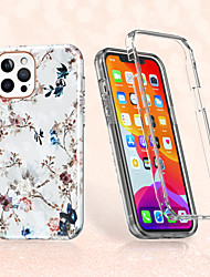 cheap -White Flowers Case For Apple iPhone 12 12mini 12Pro max  iPhone 11 11Pro  11Pro max  iPhone SE X XS XR XSMAX Shockproof  Pattern Back Cover Flower TPU  Case for iPhone 8plus 7plus