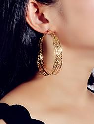 cheap -Women's Hoop Earrings Geometrical Fashion Trendy Earrings Jewelry Gold For Date Festival