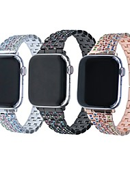 cheap -1 PCS Watch Band for Apple iWatch Jewelry Design Stainless Steel Wrist Strap for Apple Watch Series 6 / SE / 5/4 44mm Apple Watch Series 6 / SE / 5/4 40mm Apple Watch Series 3/2/1 38mm Apple Watch