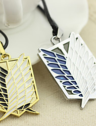 cheap -anime necklace attack on titan necklace wings of freedom pendant necklace