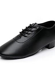 cheap -Boys' Modern Shoes Ballroom Shoes Salsa Shoes Line Dance Heel Thick Heel Black