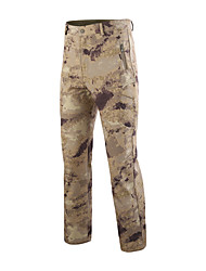 cheap -Men's Hunting Pants Softshell Pants Waterproof Ventilation Wearproof Fall Spring Solid Colored Camo / Camouflage for Yellow Camouflage Grey S M L XL XXL