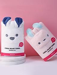 cheap -Coral Fleece Soft Towel Bath Towel Animal Shape Cute Face Wash Dry Hair Household Absorbent Dry Hair Towel
