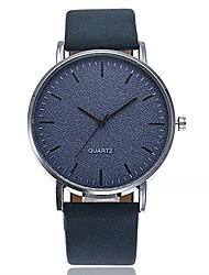 cheap -Unisex Round Big Dial Analog Quartz Wrist Watch Fashion Vintage Pattern Wrist Watches Blue