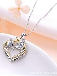 cheap -unicorn necklace pendant jewelry unicorn gifts for girls women