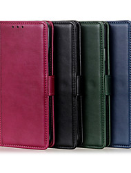 cheap -Phone Case For Apple Full Body Case Leather Wallet Card iPhone 12 Pro Max 11 SE 2020 X XR XS Max 8 7 Wallet Card Holder Shockproof Solid Color PU Leather