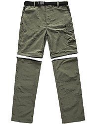 cheap -Men's Hiking Pants Trousers Convertible Pants / Zip Off Pants Solid Color Summer Outdoor Windproof Quick Dry Zipper Pocket Breathable Bottoms Army Green Dark Gray Khaki Hunting Fishing Climbing S M L