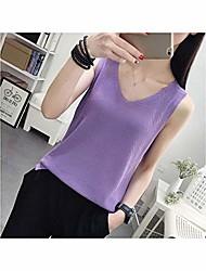 cheap -Women Knitted Vest Sleeveless Casual Knitted Vests Top Loose Sweater Casual Knitted Vests,Purple,XXL