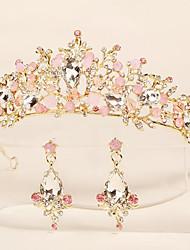 cheap -Wedding Sweet Rhinestone / Alloy Crown Tiaras / Headbands / Earring with Crystal / Rhinestone / Split Joint 2pcs Wedding / Party / Evening Headpiece