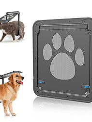 cheap -Pet Door New Safe Lockable Magnetic Screen Outdoor Dogs Cats Window Gate House Enter Freely Fashion Pretty Garden Easy Install