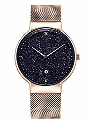 cheap -Automatic Mechanical Watch Men's Watch, Fashion Starry Sky Simulation Display Dial, Waterproof Trend Simple Watch, Suitable for Business and Leisure Use Adapt to Ladies Girls