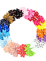 cheap -1pcs Kids / Toddler / Infant Girls' Active / Sweet Polka Dot Bow Nylon Hair Accessories White / Black / Blue One-Size