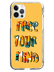cheap -Quotes & Sayings Letter Phone Case For Apple iPhone 12 iPhone 11 iPhone 12 Pro Max Unique Design Protective Case Pattern Back Cover TPU