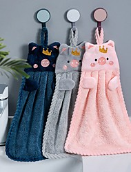 cheap -Superior Quality Wash Cloth, Floral / Cartoon / Animal 100% Coral Fleece Bathroom 1 pcs