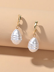 cheap -Women's Stud Earrings Geometrical Wedding Elegant Imitation Pearl Earrings Jewelry White For Party Evening Birthday