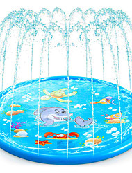 cheap -Splash Pad Sprinkler for Kids Water Toys Inflatable Pool Outdoor Party Favor PVC Outdoor Summer 68 Inch Boys and Girls Kid's
