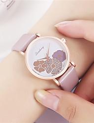 cheap -Women's Quartz Watches Analog Quartz Floral Style Fashion Diamond / PU Leather