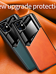 cheap -Luxury PU Leather Case For iPhone 12 11 Pro Max Shockproof Camera Lens Protection Solid Colore Back Cover Coque For iPhone XS Max XR X 7 8 PLUS SE2020