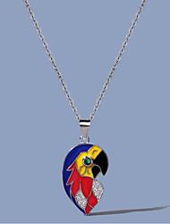 cheap -Women's Clear AAA Cubic Zirconia Necklace Fancy Bird Brass Silver 50 cm Necklace Jewelry 1pc For Street Prom Festival