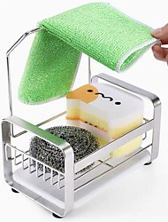 cheap -Stainless Steel Kitchen Sink Drain Rack Sponge Holder with Removable Tray